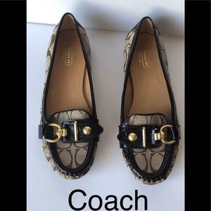 Coach Elkie  canvas flat shoes size 7.5